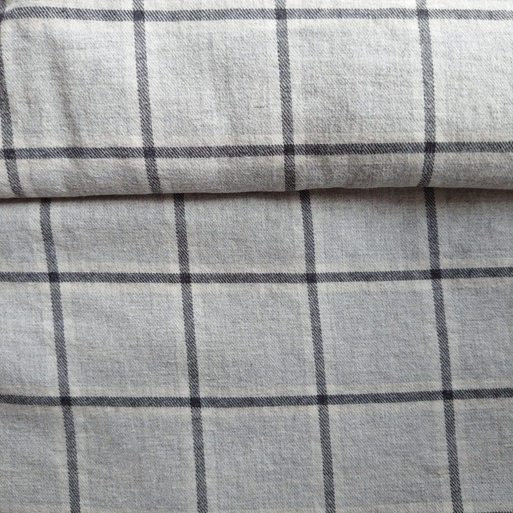 Baumwolle Kariert Grau