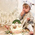 Geburstagskind mit handmade Krone